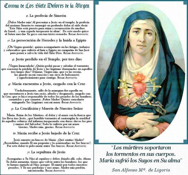 7 dolores de la Virgen María