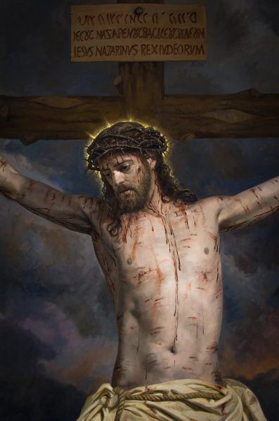 Jesús muere en la cruz